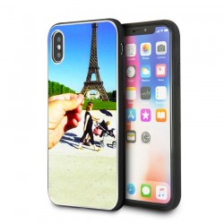 coque iphone xr personnalisee avec cotes silicones unis
