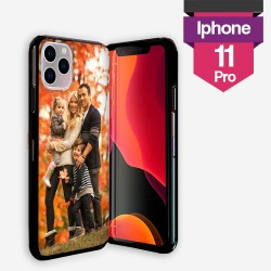 Personalized iPhone 11 PRO case with solid black silicone sides from lakokine