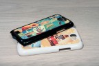 Coque Galaxy Note 2 personnalisée avec côtés rigides unis