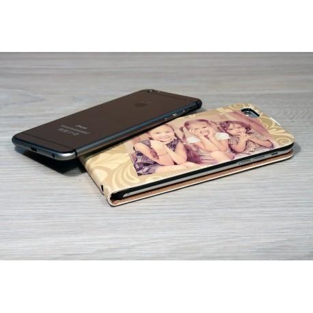 Etui personnalisé iphone 6 plus à clapet en cuir