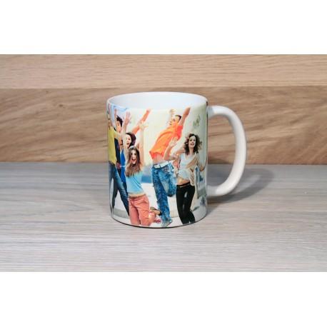Personalized photo mug yellow high quality print