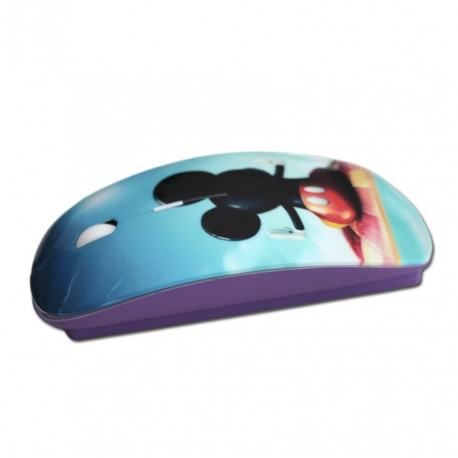 Custom purple wireless mouse