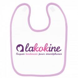 Bavoir bébé rose personnalisé lakokine