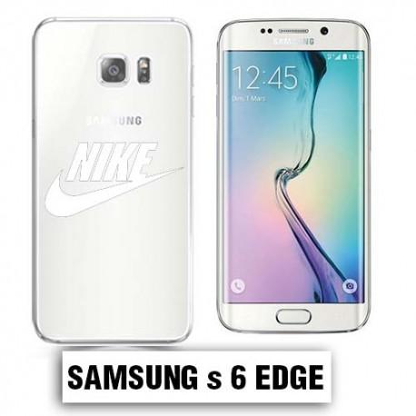 Coque transparente Samsung S6 Edge Nike blanc - Lakokine