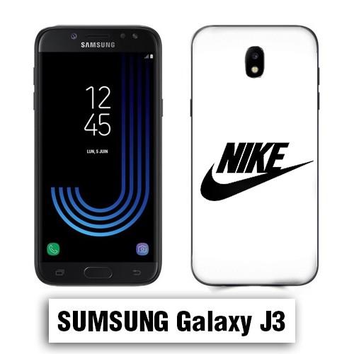 Coque Samsung J3 2017 logo NIKE Blanc - Lakokine