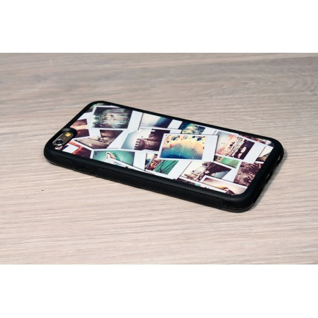 Personalized iPhone XR case with solid silicone sides