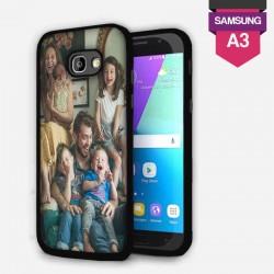 Coque Samsung Galaxy A3 personnalisée avec côtés rigides unis