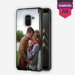 Coque Galaxy A8 2018 personnalisée avec côtés rigides unis