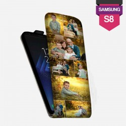 Etui Galaxy S8 personnalisé à clapet en cuir lakokine
