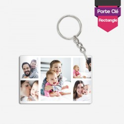 Personalized photo keychain unbreakable rectangle
