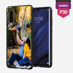 Huawei P30 personalized hard case with plain sides